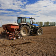 Royalty-Free Stock Photo: Sowing, tractor