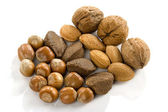 Heart, nuts, dried fruits and nuts — Stock Photo