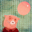 Pig and a holiday — Stock Photo
