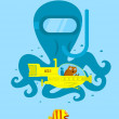 Underwater adventure — Vector de stock #28075701