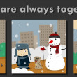 Stockvector : Friends are always together