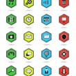 Stock Vector: Icons hexagon