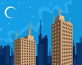 Nacht in der stadt — Stockvektor