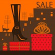 Showcase shoe store — Image vectorielle