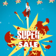 Super sale — Stock Vector