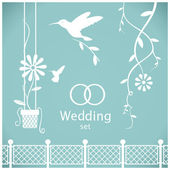Wedding Set — Stock Vector