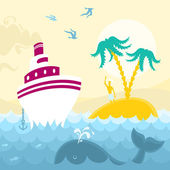 Adventures at Sea — Stock Vector