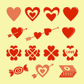 Symbols of love — Stock Vector
