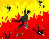 Collapse of capitalism — Vecteur