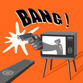 Dangerous TV — Cтоковый вектор