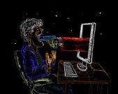Virtual robbery — Stock Photo