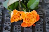 Anıtın üzerinde çiçekler — Stok fotoğraf