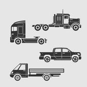 Set of trucks — Stok Vektör