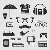 Set for hipster — Stock Vector