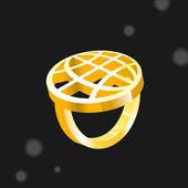 Ring macht in der Welt — Stockvektor
