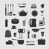 Cookware set of objects — 图库矢量图片