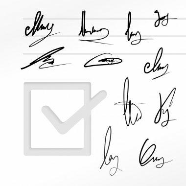 Signature vector set