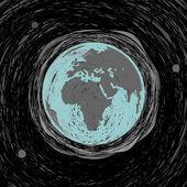 Planet earth drawing sketch — Vector de stock