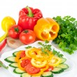 Healthy food vegetable salad — Stock Photo #18519277