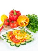 здоровая пища овощной салат — Стоковое фото