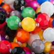 Beautiful colorful beads background — Stock Photo