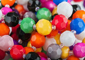 Beautiful colorful beads background — Stock fotografie