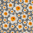 White narcissus flower seamless background pattern — Stock Photo #41225609