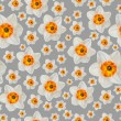 Stock Photo: White narcissus flower seamless background pattern