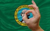 OK gest framför washington oss statligt sjunker — Stockfoto