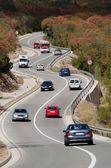 Ruch na autostradzie faliste — Zdjęcie stockowe