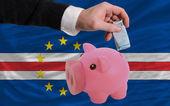 финансирование евро в богатые свинка банка национальный флаг из capeverde — Стоковое фото