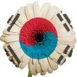 Gerbera daisy flower in colors national flag of south korea   on — Stock Photo