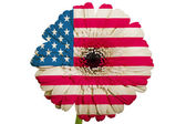 Gerbera daisy flower in colors national flag of america on whi — Stock Photo