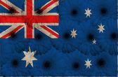 Stylized national flag of australia with gerbera flowers — Zdjęcie stockowe