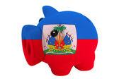 色節約のためのハイチの国旗で豊富な貯金 — ストック写真