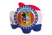アメリカ ミズーリ州の色旗の豊富な貯金 — ストック写真