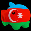 Piggy rich bank in colors national flag of azerbaijan   for savi — Stock Photo