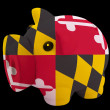 Piggy rich bank in colors flag of american state of maryland f — ストック写真