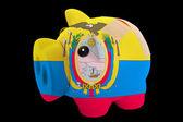 エクアドルの国旗の色の破産した豊富な貯金 — ストック写真