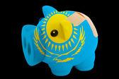 Kazakhsta の国旗の色の破産した豊富な貯金 — ストック写真