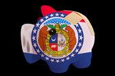アメリカの州の旗の色の破産した豊富な貯金 — ストック写真