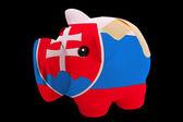 スロバキアの国旗の色の破産した豊富な貯金 — ストック写真