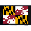 Smartphone flag of american state of maryland - Stock Photo