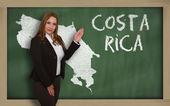 Mapa mostrando maestro de Costa Rica en pizarra — Foto de Stock
