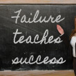 Teacher showing Failure teaches success on blackboard — Stock Photo