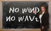 Учитель, показывая без ветер, без волны на доске — Стоковое фото
