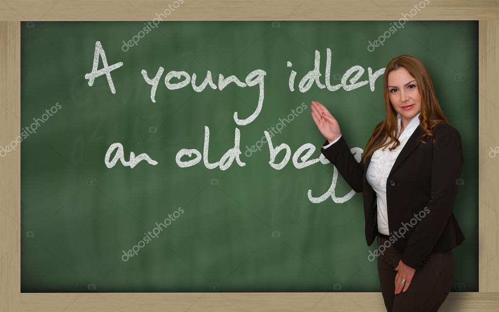 Старый учитель и молодая фото 646-39