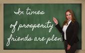 お友達繁栄の時代を示す先生は豊富であります。 — ストック写真