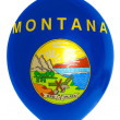 Balloon colored in  flag of american state of montana - Stock Photo