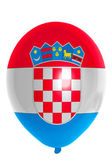 Balloon colored in national flag of croatia — Stock Photo